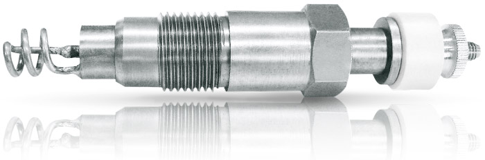 spiral glow plugs with heating coils for diesel engines
